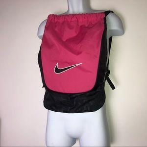 Nike Pink/Black Drawstring Backpack Gym Bag
